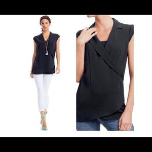 Sleeveless Black CAbi Tunic -J